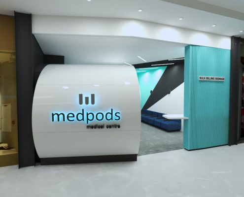 medical centre gp north lakes brisbane queensland - medical clinic entrance - medpods medical centres