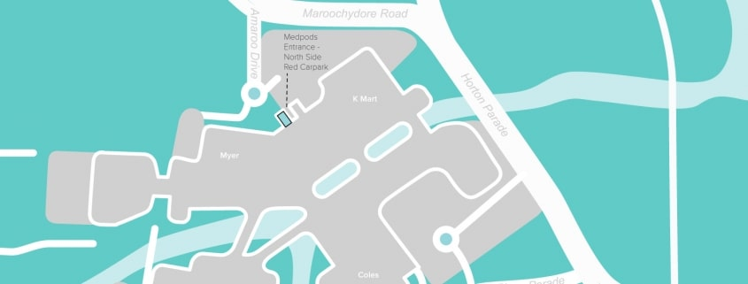 gp doctors maroochydore sunshine coast buderim mooloolaba medical centre - medpods sunshine plaza location map